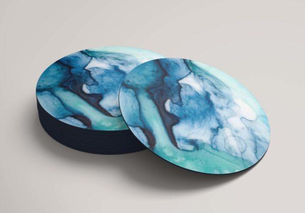 Smart Art Bespoke Printed Round Coaster Marble
