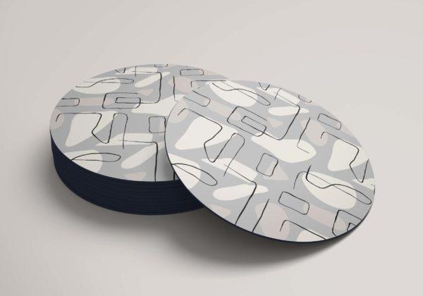 Smart Art Bespoke Printed Round Coaster Abstract