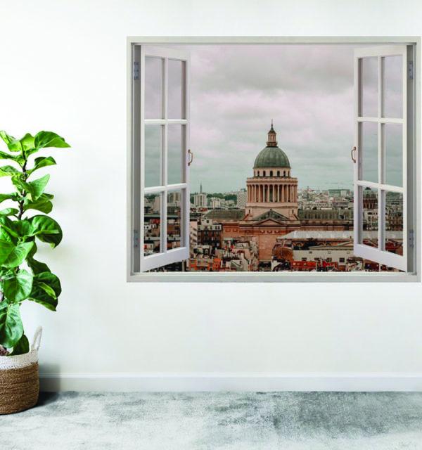 Faux canvas window