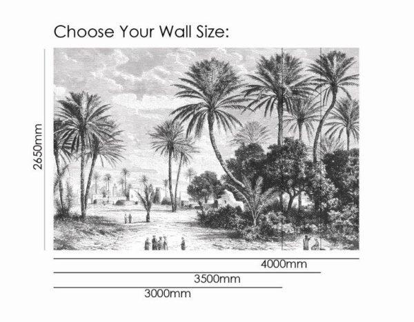 Smart Art Bespoke Printed Wallpaper Size palm trees