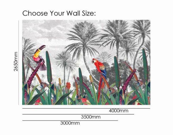 Smart Art Bespoke Printed Wallpaper Size tropical