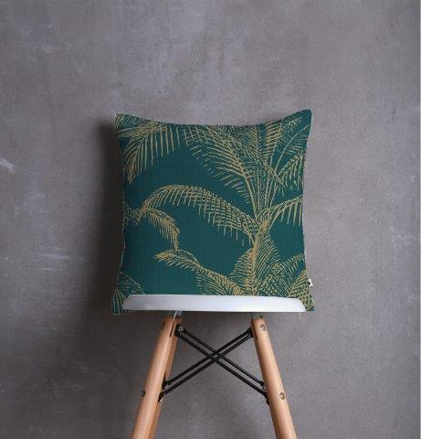Smart Art Printed Scatter cushion cover green leaves