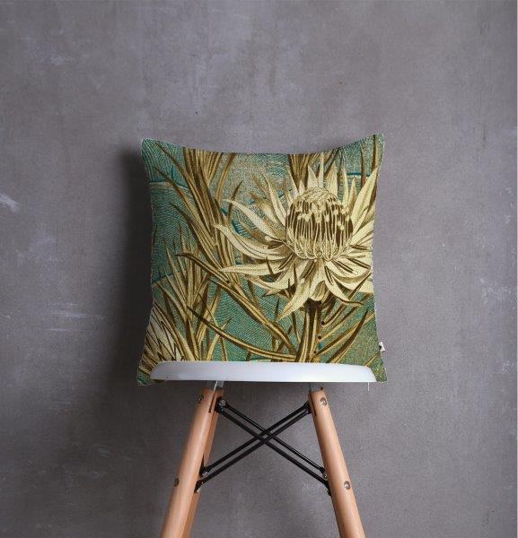 Smart Art Printed Scatter cushion cover gold flower