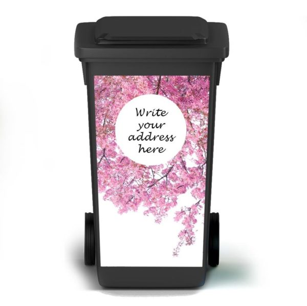 Smart Art Bespoke Printed Bin Vinyl Cherry Blossom