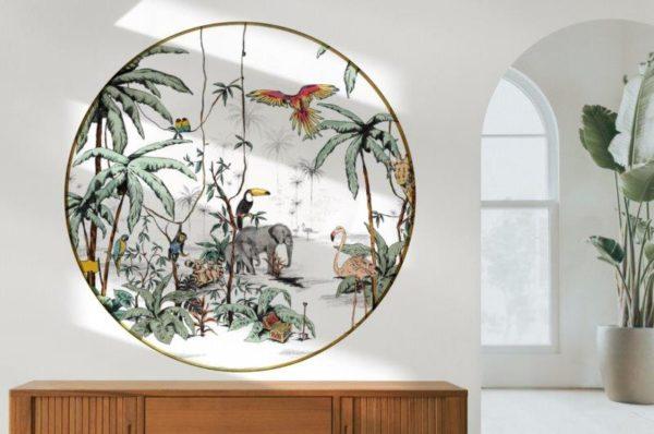 Smart Art Bespoke Printed Round Wall Vinyl Jungle