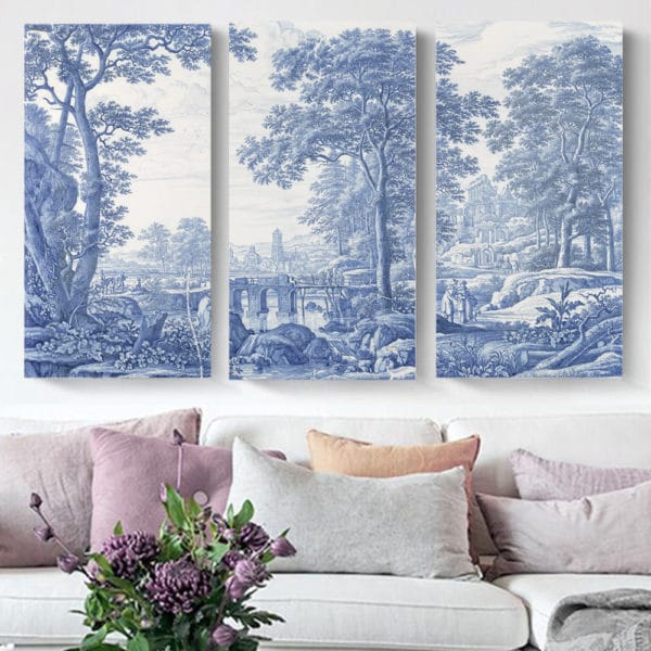 Smart Art Printed Triptych canvas Delft