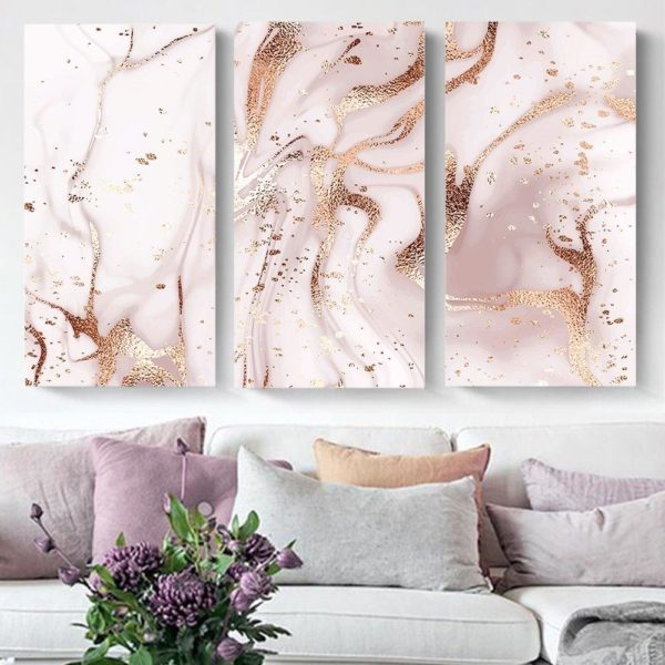 Smart Art Printed Triptych canvas Marble