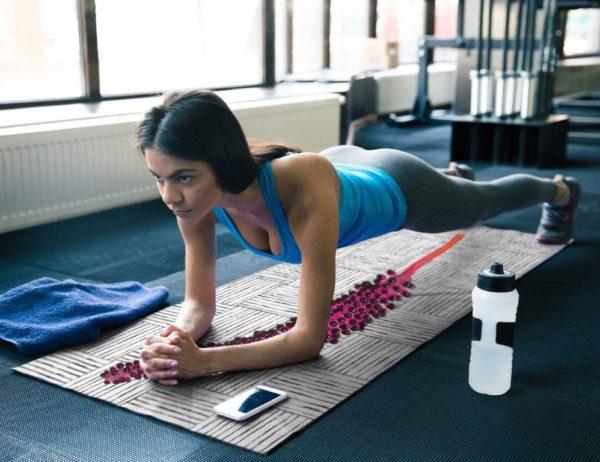 smart art yoga mat exercise work out boho pattern plant rainforest (10)