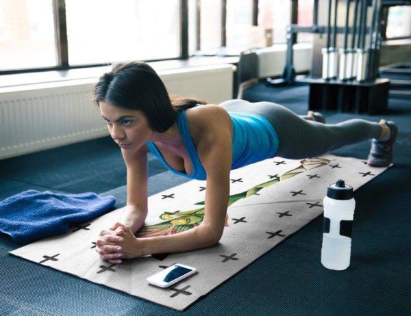 smart art yoga mat exercise work out boho pattern plant rainforest (7)