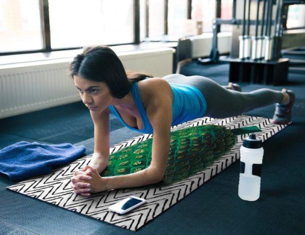 smart art yoga mat exercise work out boho pattern plant rainforest (8)