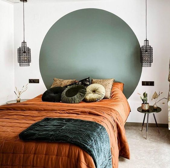 Smart Art Bespoke Printed Accent Wall Decal Forrest Green