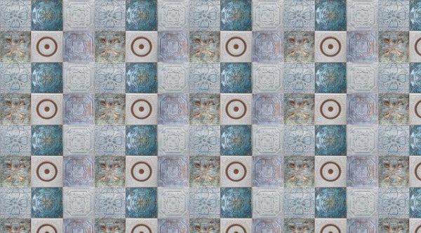 Smart Art Bespoke Printed Kitchen Vinyl Splashback Embossed Blue