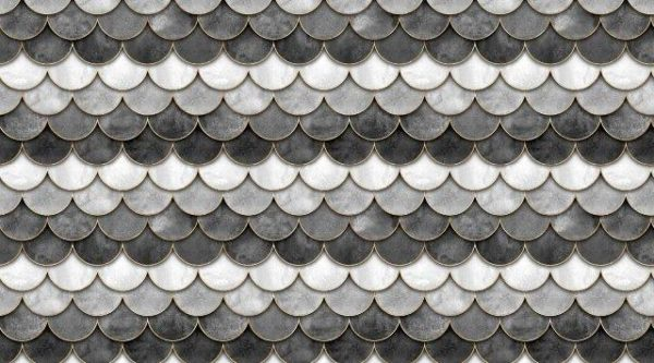 Smart Art Bespoke Printed Kitchen Vinyl Splashback Mermaid Grey