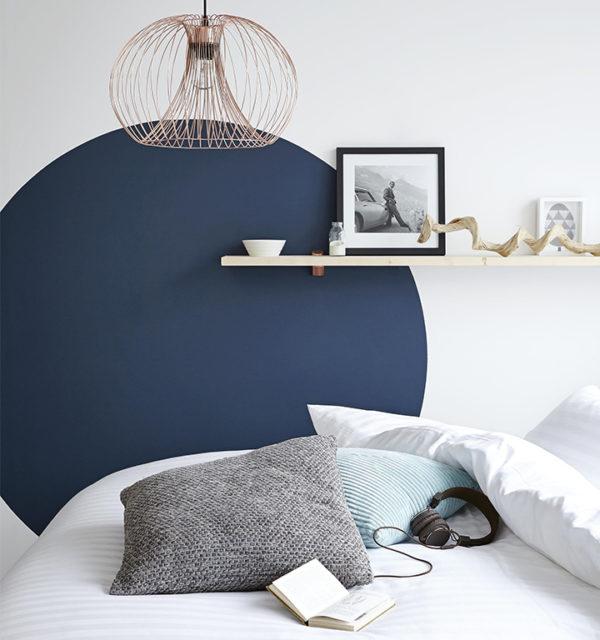 Smart Art Bespoke Printed Accent Wall Decal Cobalt Blue