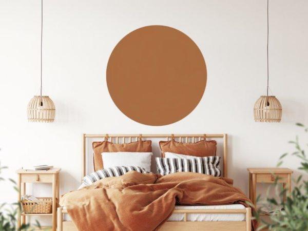 Smart Art Bespoke Printed Accent Wall Decal Mocha Brown