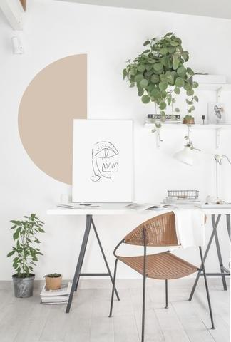 Smart Art Bespoke Printed Accent Wall Decal Dusty Pink